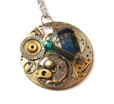 Doctor Who Necklace Gluon Spacetime Tensor by TimeMachineJewelry