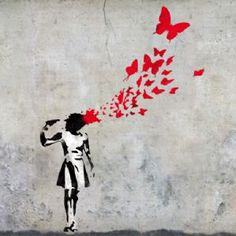 Banksy Butterfly Girl Suicide Stencil - Shop Banksy at Ideal Stencils