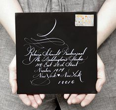 Beautiful invitation calligraphy