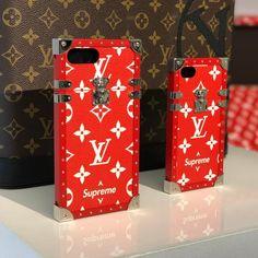 Louis Vuitton x Supreme phone cases