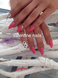 Acrylic design by Valentine's nail spa