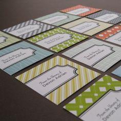 custom bookplates  assorted pattern design by STELLAandHODGE