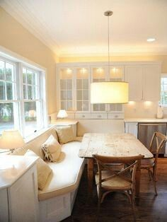 Love Built In Comfy Seating For A Popular Gathering Spot Like The Kitchen  By Edith