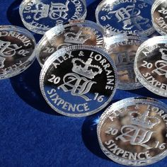 50 Personalised Lucky Sixpence Bridal Wedding Favours and Table Decorations
