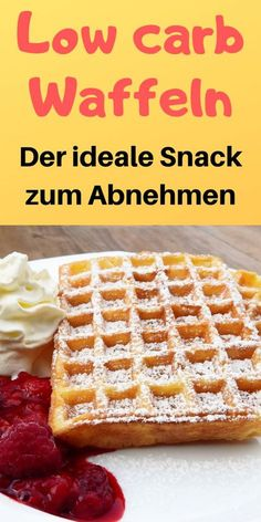 Low carb waffles - Fast and super easy- Low carb Waffeln – Schnell und super einfach Be sure to try these low carb waffles! Low Carb Dinner Recipes, Low Carb Desserts, Keto Recipes, Low Carb Sweets, Shake Recipes, Keto Dinner, Healthy Desserts, Grilling Recipes, Lunch Recipes