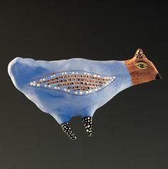 Jenny Mendes ceramics Etsy - wall bird