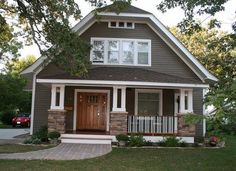 """After: Newly remodeled """"Old House"""" Cute front porch"""