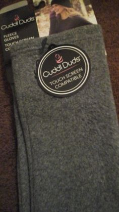 Cuddle Duds Women's  NWT Gray Gloves Touch Screen   #Cuddleduds #DrivingGloves