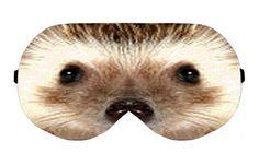 Hedgehog Sleeping Sleep Eye Eyes Mask Masks Night Blindfold cover shade patch Slumber Eyeshade Sleepmask Eyemask Travel Kit Accessory Gift by venderstore on Etsy