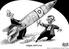 Mavo 6-Dit is een koude oorlog Propaganda. Hier zie je dat de Sovjet-Unie man de raket op de VS man wil gooien .