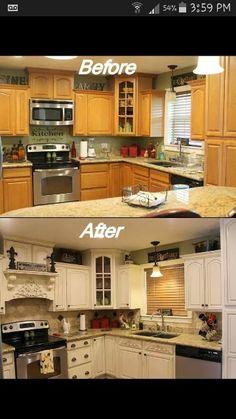 Beautiful kitchen cupboard makeover