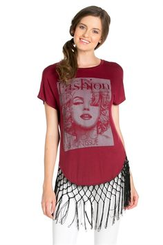 RSJ SCREEN FRINGE TOP BURGUNDY - orangeshine.com