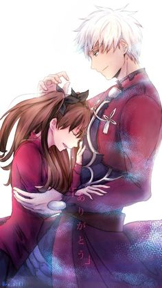 Fate/stay night: Unlimited Blade Works Tohsaka Rin and Archer Pixiv.net #anime