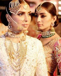 Dynamic duo, contemporary bridal looks made by Team #NABILA #NPRO for #PLBW16