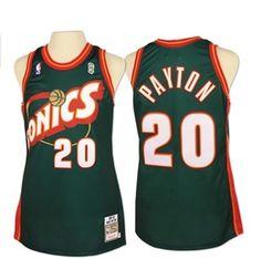 Seattle SuperSonics 1995-1996 Gary Payton Soul Swingman Jersey Air Jordan 24693a398