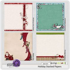 Holiday Stacked Papers #freebie at SuzyQScraps.com #digiscrap #digifree