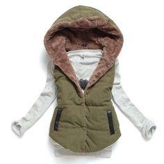 bde680c7f1 Buy Women Waistcoat Hooded European Winter Coral Fleece Sleeveless Lapel  Warm Vest Coat Jacket Tops at Wish - Shopping Made Fun