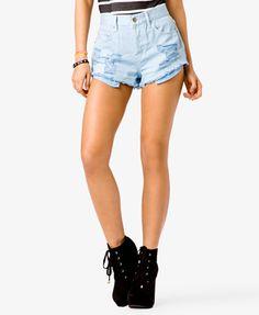 Spiked Distressed Denim Shorts #Forever21 #SweetStreet #Spikes #Denimshorts