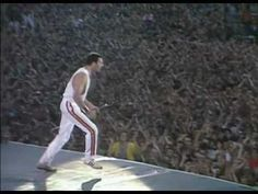 """This is the only regret I have in my life so far: I'm too young to have to been able to see Queen performing live.  Freddie giving it all on Wembley 86' singing """"I Want to Break Free""""."""