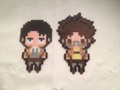 Levi and Hanji - Attack on Titan perler beads by sweet-misery788
