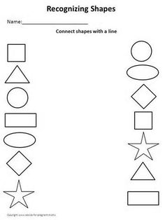 Printables Printable Worksheets For Preschoolers matching shapes to pictures worksheet worksheets pinterest free printable for toddlers yahoo image search results
