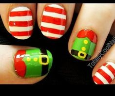 Christmas Nails Art - Grinch Who Stole Christmas - Click pic for 25 Christmas Holiday Crafts DIY