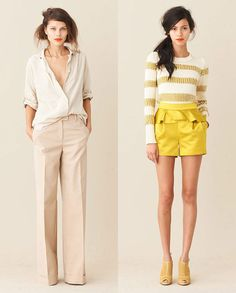 vogueandcoffee:  Neutrals and Yellow:  on trend for Fall  selloane:    J Crew