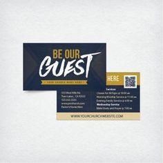 Mini Church Invite Card 3.5x2 - Be Our Guest
