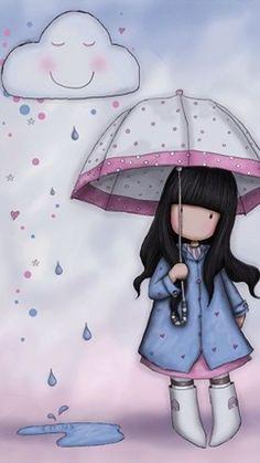 J'aime marcher sous la pluie parce que personne ne voit mes larmes -Charlot