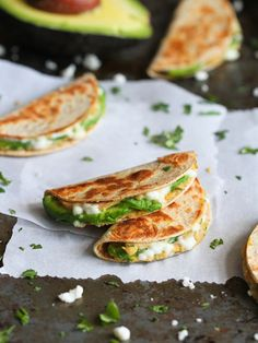 Avocado and Hummus Quesadillas