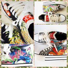 Ya es una realidad nuestras zapatillas aplanan las calles de #chile #zapatillas #plataformas #patterns mas info en www.facebook.com/sickclothingchile