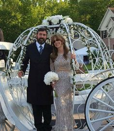Lovely older couple had a back yard wedding and took a ride in our Cinderella Carriage in #CherryHill, NJ