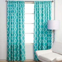 Maybe her roman shade out of this--she wants lacy curtains, but then maybe a pop of color underneath