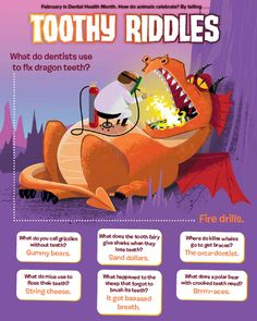 Toothy animal riddles to celebrate Dental Health Month in February (From Ranger Rick magazine)