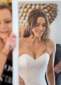 Bride Jess getting ready at Yarra Valley Estate