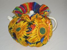 Sunflowers Teapot Reversible Cosy Fits 4 to 6 Cup by CosyKozees, $19.99