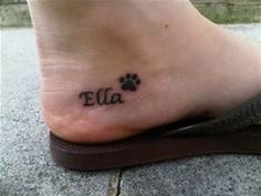 small cluster of paw tattoos - Bing Images