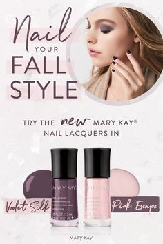 Perfect your polished fall look. Mary Kay® Nail Lacquer glides on for a flawless, instant satin finish. Selling Mary Kay, Makeup Ads, Mary Kay Cosmetics, Take Care Of Your Body, Mary Kay Makeup, Satin Finish, Toe Nails, Beauty Hacks, Skin Care
