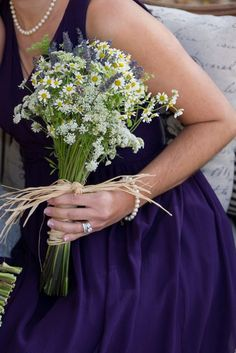 Sweet wildflower bouquet by #Cedarwood Weddings. Photo by Ace Photography.