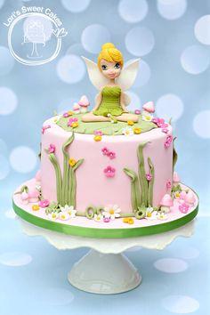 Tinkerbell - Cake by Lori's Sweet Cakes Tinkerbell Birthday Cakes, Fairy Birthday Cake, 4th Birthday Cakes, Garden Cakes, Fairy Cakes, Disney Cakes, Occasion Cakes, Sweet Cakes, Creative Cakes