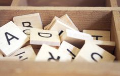 Wooden Alphabet Letter Tiles by altogetherlovelyshop on Etsy, $8.50