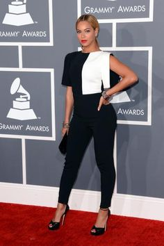 Grammy Red Carpet - Look da Beyonce =) black and white