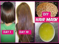 DIY Hair Mask for Long Hair Growth in 1 Week - YouTube