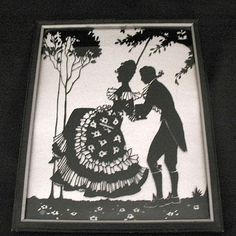 20% Off~Vintage Collectible Art Deco Period Silhouette Depicting from teesantiqueorchard on Ruby Lane