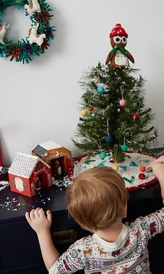 O Wee Christmas Tree, O Wee Christmas Tree, how tiny are your branches? Actually, they're the perfect size to let your little ones help with the decorating. And, the tabletop Christmas tree's small scale makes it ideal for a kid's room.