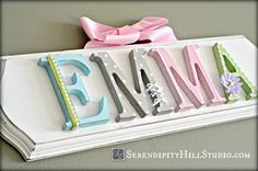 Custom name plaque made to order wall par SerendipityHillShop