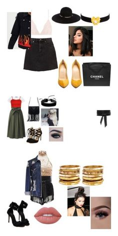 """cool"" by alexa78-1 on Polyvore featuring La Perla, Christian Louboutin, Kenneth Jay Lane, Chanel, Eugenia Kim, IRO, WearAll, Uniqlo, WithChic and Simons"