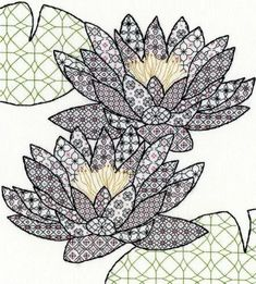 Bothy Threads Blackwork Water Lily Cross Stitch Kit - x Discover more kits by Bothy Threads at LoveCrafts. From knitting & crochet yarn and patterns to embroidery & cross stitch supplies! Shop all the craft materials you need to start your next Motifs Blackwork, Blackwork Cross Stitch, Blackwork Embroidery, Hand Embroidery Patterns, Embroidery Kits, Cross Stitch Embroidery, Cross Stitch Patterns, Cross Stitches, Creative Embroidery