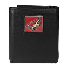 Men's Arizona Coyotes Trifold Wallet, Black