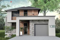 New exterior bungalow modern decor 19 ideas 3d Home Design, Modern House Design, Exterior Colors, Exterior Design, Boutique Homes, Story House, Modern House Plans, Architect Design, Floor Plans